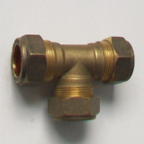 Brass Compression MDPE Alkathene Equal Tee 20mm - 18502000